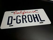 Foo Fighters Dave D-Grohl Chevette Walk Video California License Plate Prop Toy