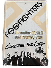 Foo Fighters Concert Poster / Metal Sign - Iowa