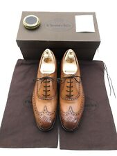 NEW CHURCH'S BROGUE MEN'S SHOES - UK 12 F - BROWN/TAN CALF LEATHER - RILEYHILL