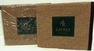 Ralph Lauren BRITTANY TWEED Tan Brown WOOL Standard Sham Shams SET of 2 Purple