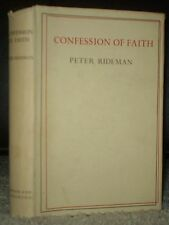 1950, 1ST ENGLISH EDITION, HCDJ, CONFESSIONS OF FAITH, PETER RIDEMAN