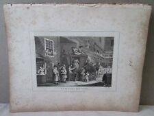Vintage Print,COUNTRY INN YARD,Hogarth,1807