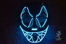 BLUE Sharp Tooth ELWire Rave EDC EDM DJ Party Festival Halloween Costume Mask!