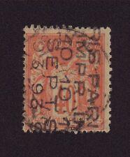 Préoblitéré N°21 40 c rouge-orange sur paille sage 5 lignes