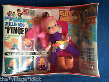 Vintage Remco Finger Ding Millie Mod Doll Mint in Box Psychedelic Hippie Kiddle