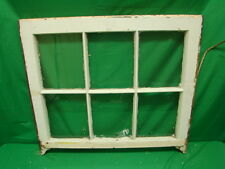 Vintage Farmhouse old wood window sash 6 pane picture frame 25.75 x 28.5 inches
