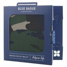 Blue Badge Company Army Camo Hologram-Safe Disabled Parking Permit Holder and Ti