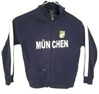Unknown CC Munchen Zip Front Track Jacket Men's XL Navy Blue Patch Logo Pockets