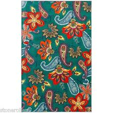 8 x 10 Modern Paisley Large Area Rug  Dining Living Bed Room Turquoise Red Green