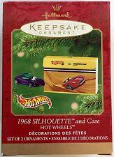 Hot Wheels Keepsake Ornament, 1968 Silhouette & Case #06605 (set of 2 ornaments)