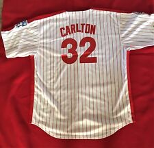 Philadelphia PHILLIES Russell Baseball Jersey #32 CARLTON Size 48 SGnUN2