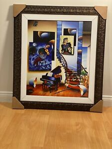 Fiddler By Ferjo. Limited Edition Giclee Painting On Canvas 20x24 Frame Included