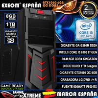 Ordenador Pc Gaming Intel i3 8100 8GB 1TB Gigabyte GTX1060 6GB OC de Sobremesa