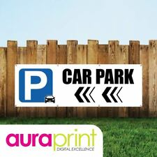 Car Park Left Arrow Vinyl Sign For Businesses With Eyelets-031