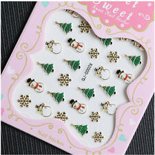 Christmas Nail Art Transfer Stickers 3D Design Manicure Tips Decal Decor MO