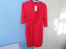 BNWT STUNNING WOMAN'S NEXT MATERNITY RED DRESS SIZE UK 20 EUR 48