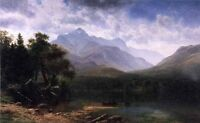 Elegant Oil painting Albert Bierstadt - Mount Washington spring landscape canvas