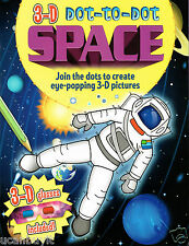 3D Eye-Popping Dot-to-Dot SPACE Activity Book w/3D Space Glasses Ages 3+