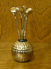 """#GIG242N HORS D'OEUVRES FORKS, NEW from our Retail Store GOLF, 5 forks 3.75"""""""