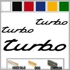 set adesivi sticker TURBO boost style porche prespaziato,auto,moto 19 cm/9,5cm