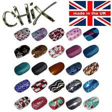 CHIX Nail Wraps WINTER SALE Stripes Polka Fishnet Mirror Foils Gel Art Salon x5