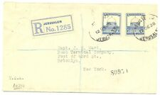 PALESTINE  BRITISH MIL. OCCUP. 1928-12-12 REG. CV TO NEW YORK