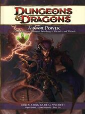 D&D Dungeons Dragons 4th ARCANE POWER NM! 4E Player's Handbook Sorcerers Wizards