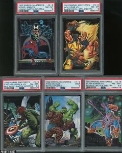 1992 Skybox Marvel Masterpieces Battle Spectra Complete Set (5) PSA Graded