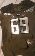 2014 Oregon Ducks Spring Game Authentic Game Jersey # 69 w/ COA Size 44