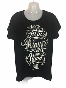 Lorna Jane XS top t shirt black white short sleeve running exercise yoga fitness