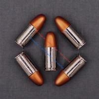 "10X Biker Western Cowboy Gold Silver Bullet Leathercraft Concho 3/8""x1-1/8"""