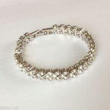 Diamond White Gold Filled Chain/Link Costume Bracelets