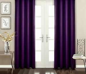 """52"""" X 95"""" Multi colour soft Thermal Blackout Curtains Bedroom kitchen Kids Room"""