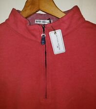 Peter Millar Quarter Zip Long Sleeve Pullover Mens Small NEW $145.00 Red