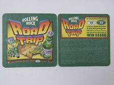 BEER COASTER ~ Rolling Rock Brewery ~ Latrobe PA ~ 2003 Win A Road Trip Contest