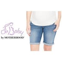 Oh Baby by Motherhood Maternity Womens Bermuda Distressed Jean Shorts Sz S NWT