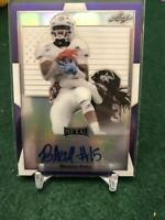 2019 Leaf Metal All-American Breece Hall Purple Flag Auto AUTOGRAPH 3/10 Iowa St