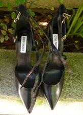 "Steve Madden Pointed Toe 5"" Heels Sandals Shoes Size 9M, Black"
