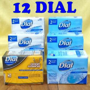 12 Bars DIAL Antibacterial Soap 3.2 oz. Each, 6 2-Packs Assortment - NEW