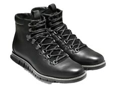 NEW Cole Haan Zerogrand WR Leather Hiker Boots 9.5 M Woodbury Black $300
