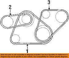 MITSUBISHI OEM 96-99 Eclipse 2.0L-L4 Belts-Alternator Belt MD186124