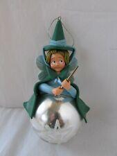 Disney Rare Sleeping Beauty Clay-Do Fairy Godmother Fauna Christmas Ornament