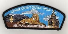 Orange County Council (SA-168) CSP, 2009 Kilimanjaro/Britan Troop 1201, Mint