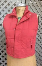 LORO PIANA Womens 6 S DOWN Vest Puffer Quilted ITALY Rusty Off-Red Deep Coral