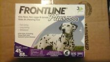 FRONTLINE Plus for Dogs 45 to 88 Lbs 3 Doses Flea Medicine Treatment