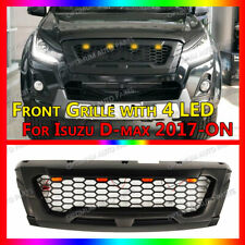 Front Racing ABS Black Grill Grille 4 LED DRL to suit Isuzu D-MAX Dmax 2016-2019