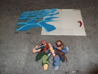 3 Vintage Street Fighter Cartoon Animation Cel 12 Ken