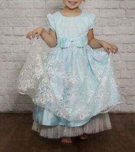 Jona Michelle Light Blue With White Overlay Tea, Special Occasion Dress 5