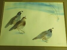 "L. Toneri Ward "" QUAILS "" S/N Framed Print #46 of 500 from 1979"