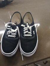 Authentic Vans Canvas Lace Up Shoes All Black Men's Size 6.5 or Ladies size 8